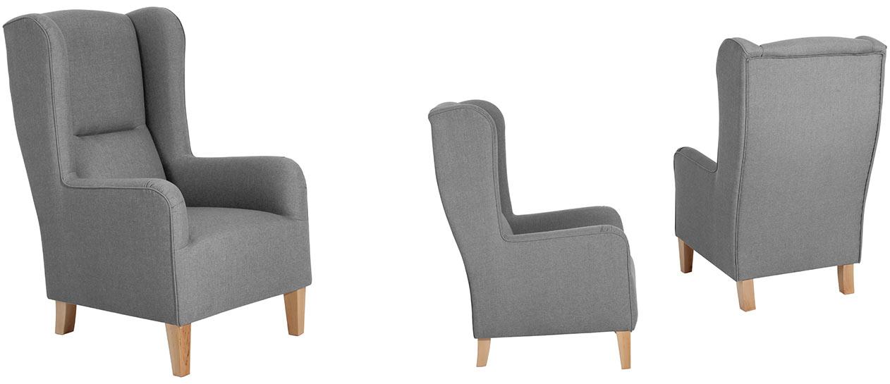 hochlehnsessel und ohrensessel bob von max winzer polsterm bel. Black Bedroom Furniture Sets. Home Design Ideas